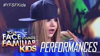 Your Face Sounds Familiar Kids: Justin Alva as Avril Lavigne - Sk8er Boi