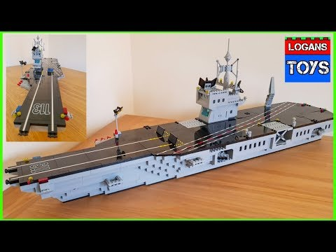 LEGO / BUILDING BLOCKS AIRCRAFT CARRIER SPEED BUILD !!!