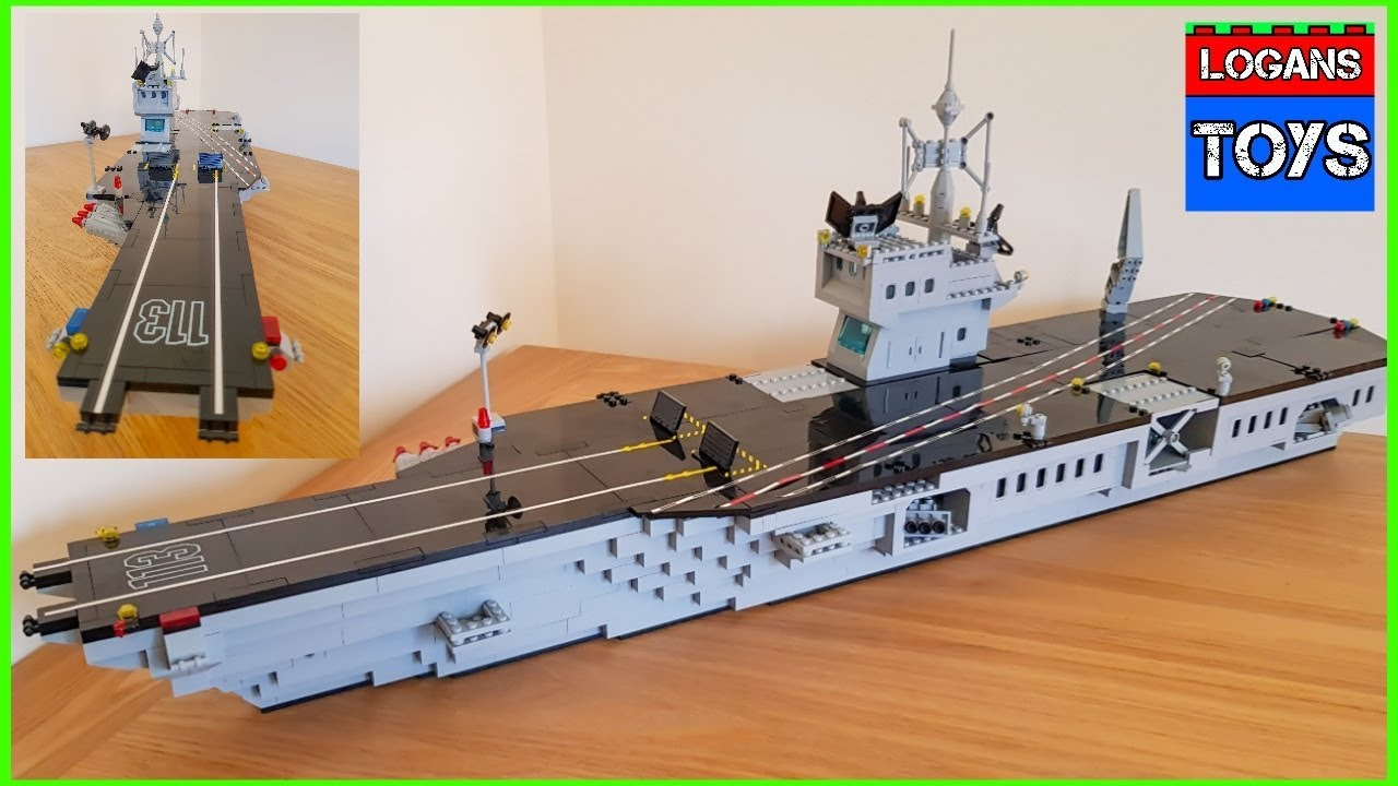 Lego Building Blocks Aircraft Carrier Speed Build Youtube
