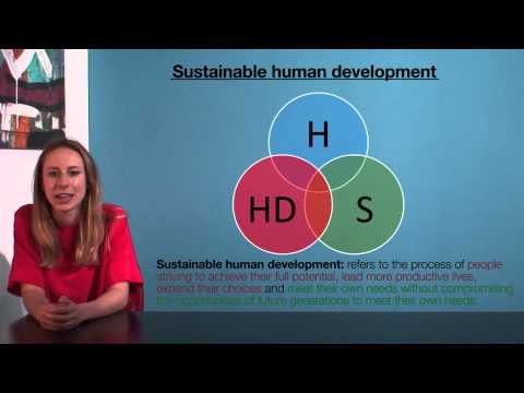 VCE HHD - Sustainable human development