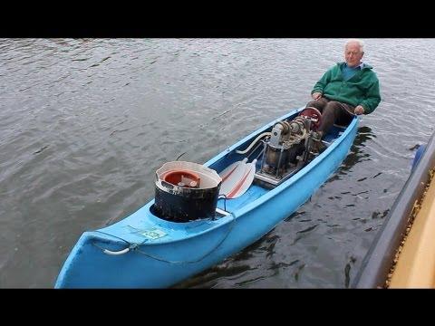 Julian Woods' Triple Transferator Stirling Engine Powered Canoe