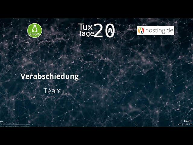 Verabschiedung – Team - Tux-Tage 2020