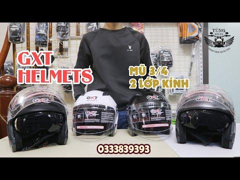 Review Mũ bảo hiểm 3/4 GXT 2 kính | Mũ bảo hiểm 34 cao cấp