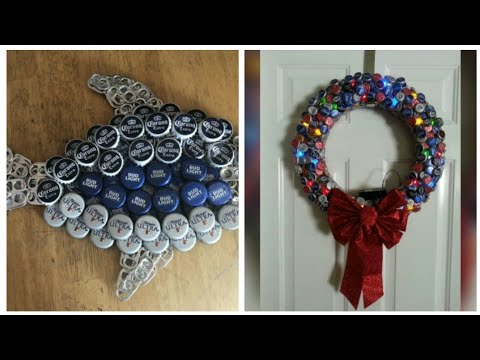 bottle-caps-crafts-ideas//room-decorations