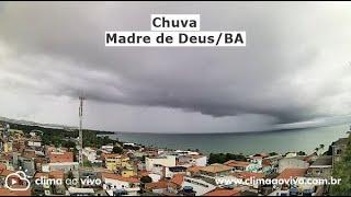 Avanço de chuva em Madre de Deus/BA - 09/04/21