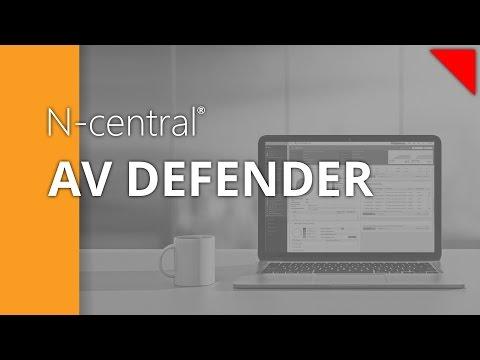 N-central Security Manager - AV Defender - Scheduling recurring AV scans