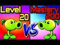 Plants vs Zombies 2 Compare Mastery 200 vs Level 20 Peashooter PvZ 2 Gameplay