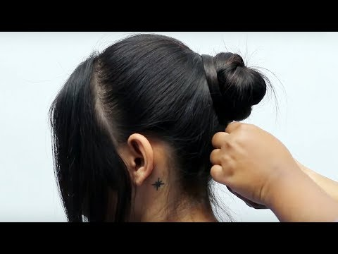 Easy messy bun hairstyle for wedding/party/function | updo hairstyle | prom hairstyles | 2019