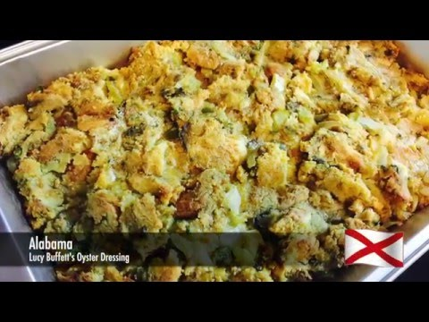 01 - Alabama - Lucy Buffett's Oyster Dressing - United States of Thanksgiving
