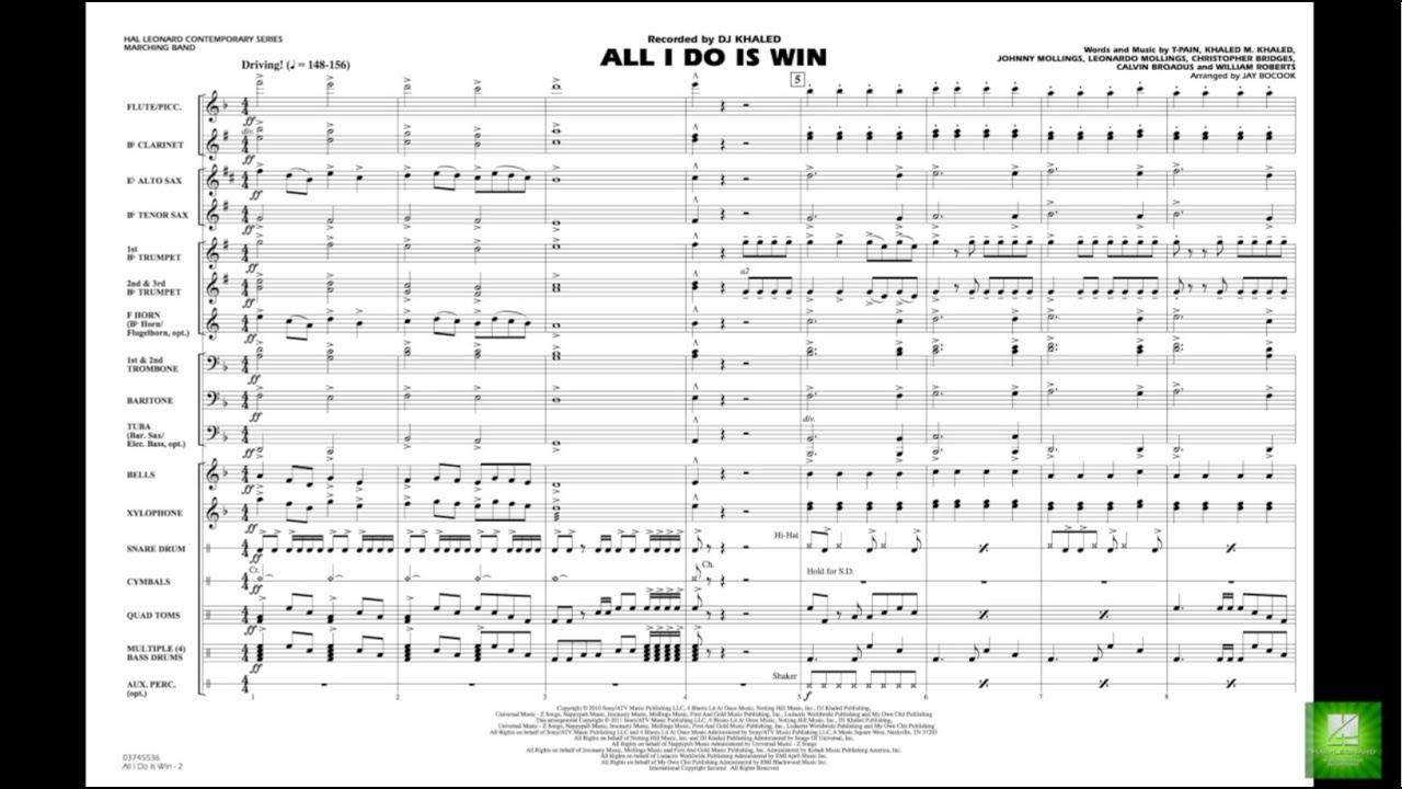 All I Do Is Win arranged by Jay Bocook - YouTube