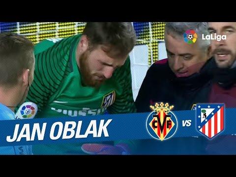 Lesión de Oblak en el gol de Jonathan Dos Santos