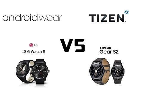 LG G Watch R vs Samsung Gear S2 Classic. Comparison.
