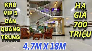 Bán nhà Gò Vấp 527| Đại hạ giá 700 triệu đồng cho 5 căn nhà đẹp đường Quang Trung phường 8| giá rẻ