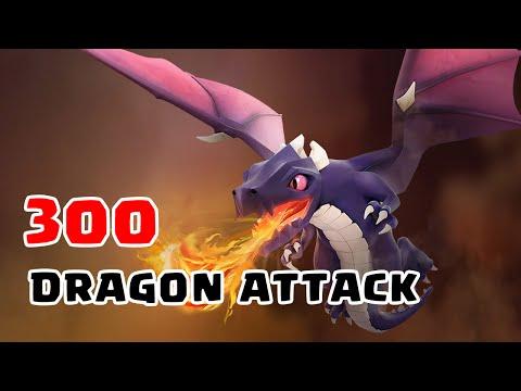 Clash Of Clans - 300 Dragons Raid (Mass Attacks)