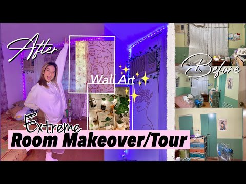 Pinterest inspired Room makeover/Tour 2020 — Wall art, Vanity  (Philippines) | Chachiingg
