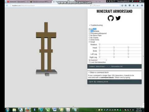Minecraft How To Make a Custom Armor Stand