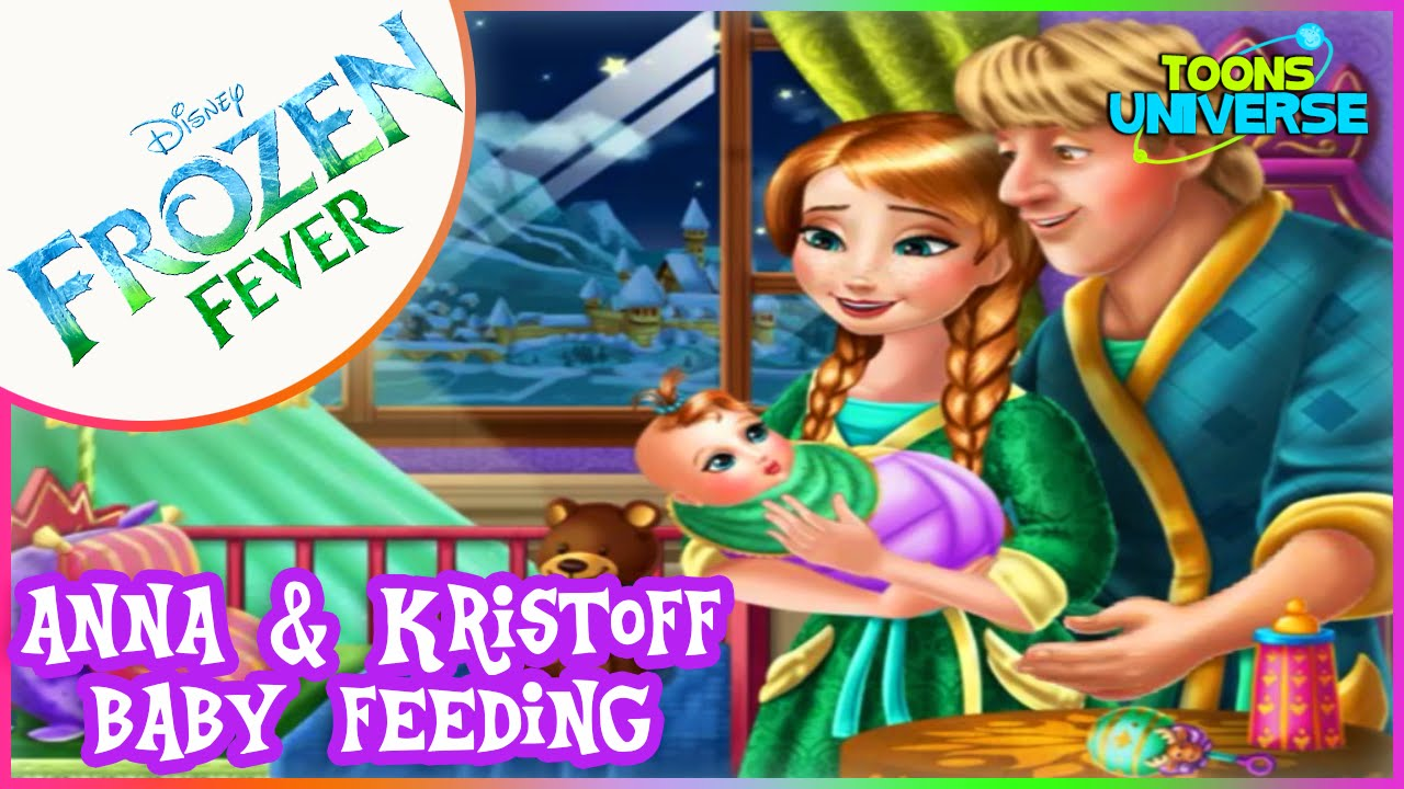 Disney Frozen Anna and Kristoff Baby Feeding Care Game for ...