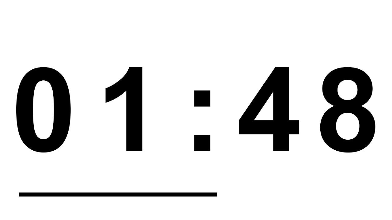 countdown timer   v 667   4 min timer font arial black 4k
