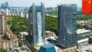 China firm builds highest artificial waterfall in the world - TomoNews