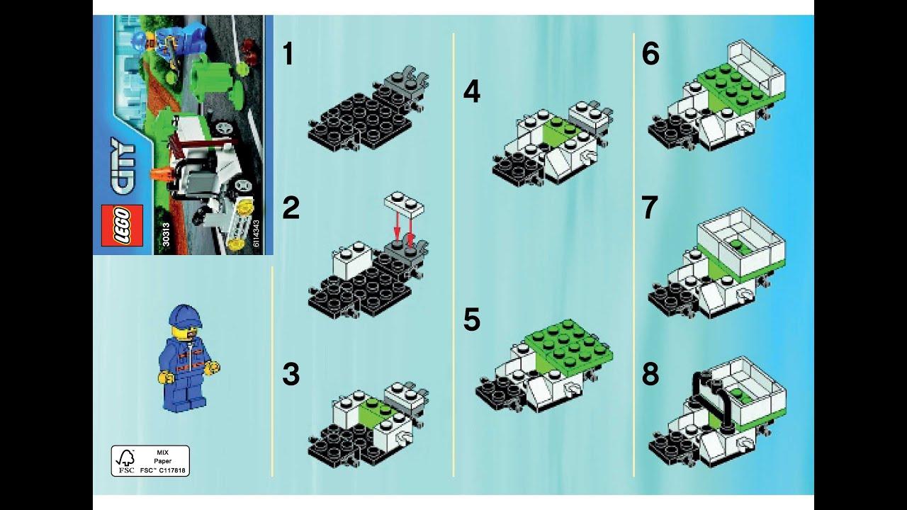 Lego 30313 Garbage Truck Instructions Lego City 2015 Polybag Youtube
