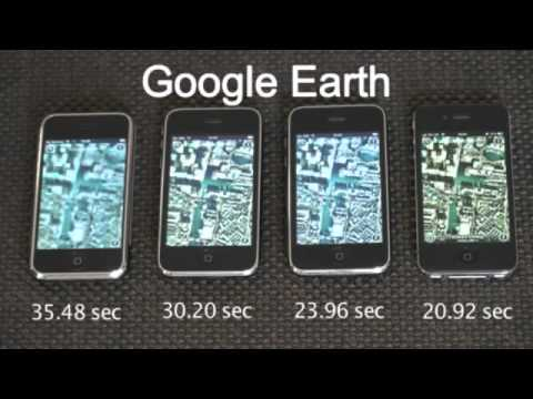 IPhone 1G 2G 3G 4G Speed Compare