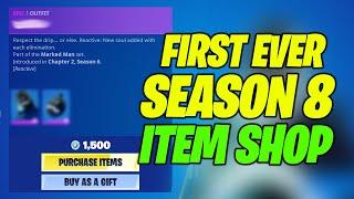 Fortnite Item Shop Today - FIRST EVER Season 8 Item Shop Refresh