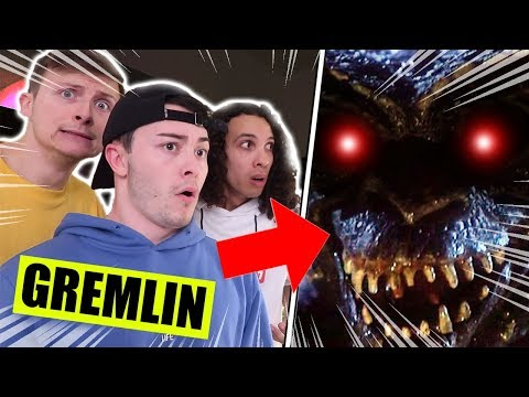 *SCARY* WE FOUND A GREMLIN LIVING IN OUR BASEMENT!! (IT BROKE FREE!!)