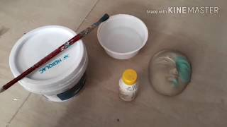 How to apply colours on a clay idol/Murti