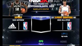 NBA 2K14 Ultimate base roster. Video 01