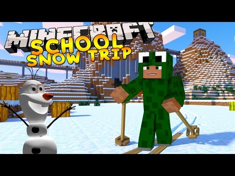 Minecraft School - SUPER SNOW HOLIDAY w/ Little Lizard & Tiny Turtle