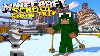 Minecraft School - SUPER SNOW HOLIDAY w/ Little Lizard & Tiny Turtle