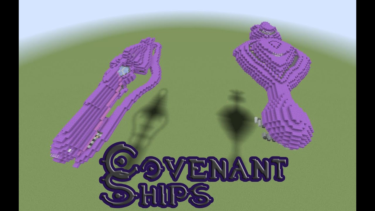 Minecraft- Halo Covenant Cruiser Ship - YouTube