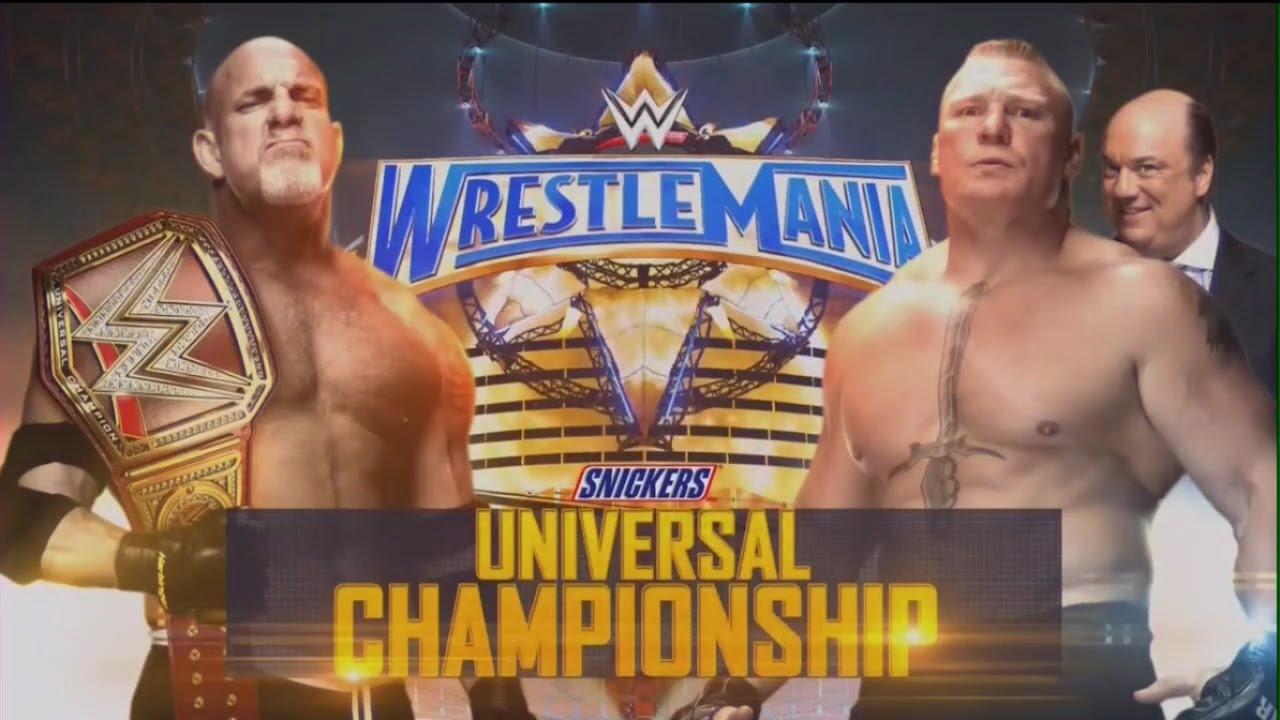 Znalezione obrazy dla zapytania Goldberg (c) vs. Brock Lesnar (w/Paul Heyman)