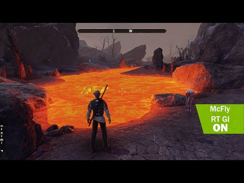 The elder scrolls online 4K - Raytracing GI - Ultra graphic - comparison - Gameplay