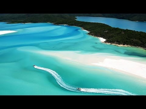 Whitehaven Beach Pure White Sand Queens Land Australia