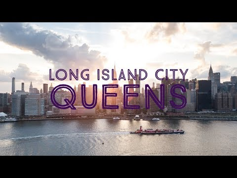 Long Island City, Queens - New York City - Mavic pro drone footage - 4k UHD
