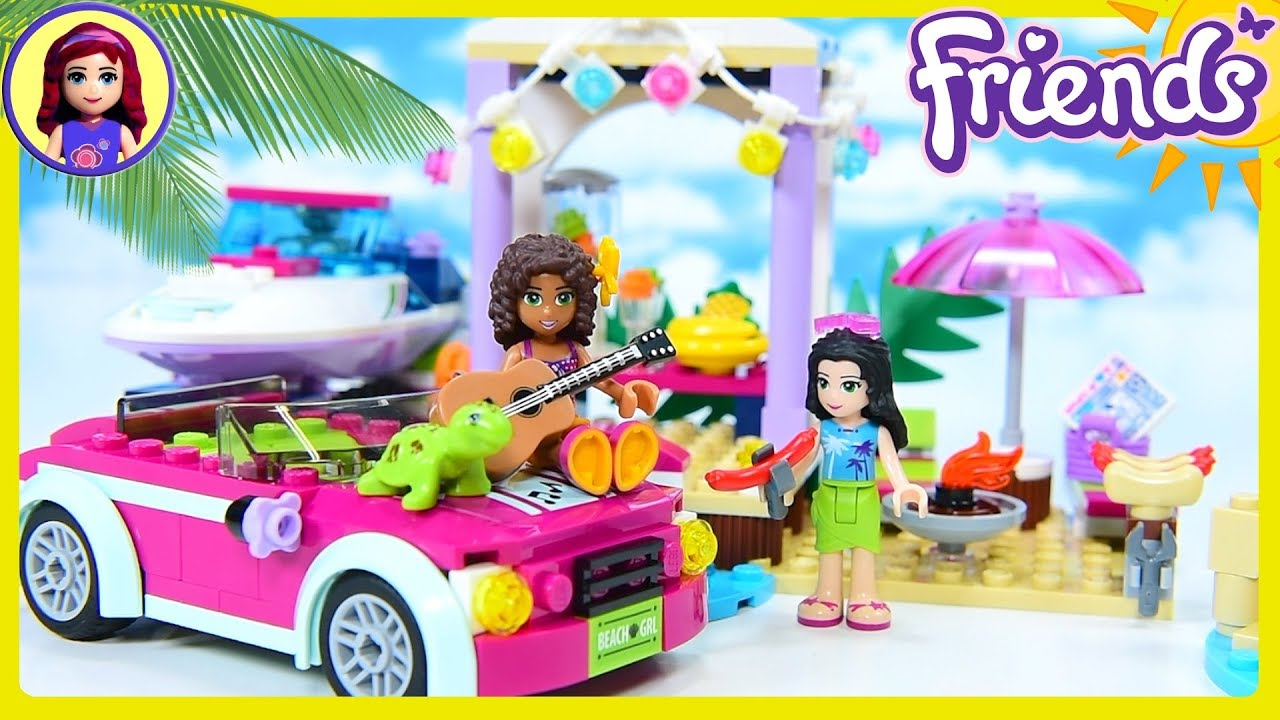 Lego Friends Andreas Speedboat Transporter Beach Party Build Review