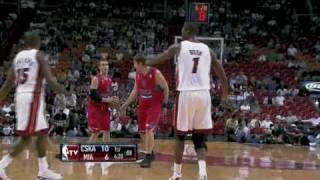 Miami Heat vs Moscow CSKA (96 - 85) October 12, 2010