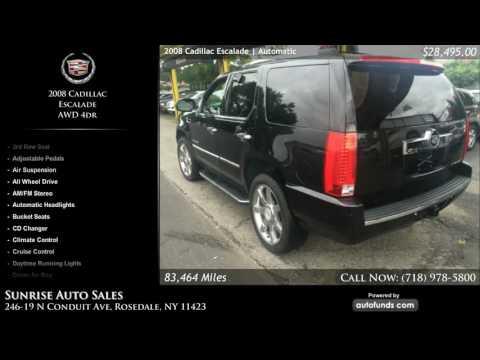 Used 2008 Cadillac Escalade | Sunrise Auto Sales, Rosedale, NY - SOLD