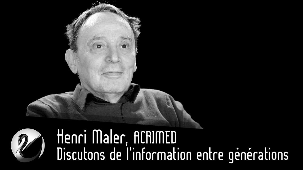 Henri Maler, ACRIMED : Discutons de l'information entre générations