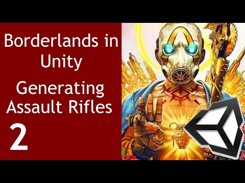 Borderlands-like game Episode 2 Generating Assault Rifle Unity Tutorial thumbnail