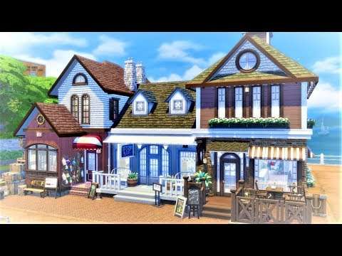Bayside Shopping Center || The Sims 4 - Speed Build