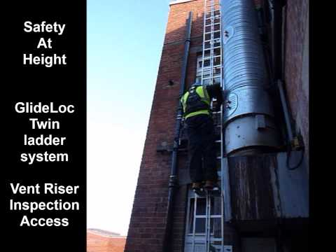 Twin Ladder Extraction Vent Riser Inspection Access
