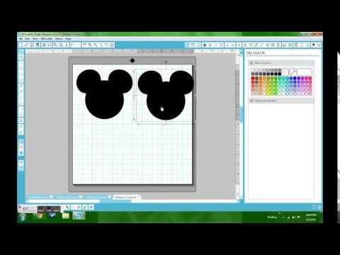 Mickey Head Invite with Silhouette Studio