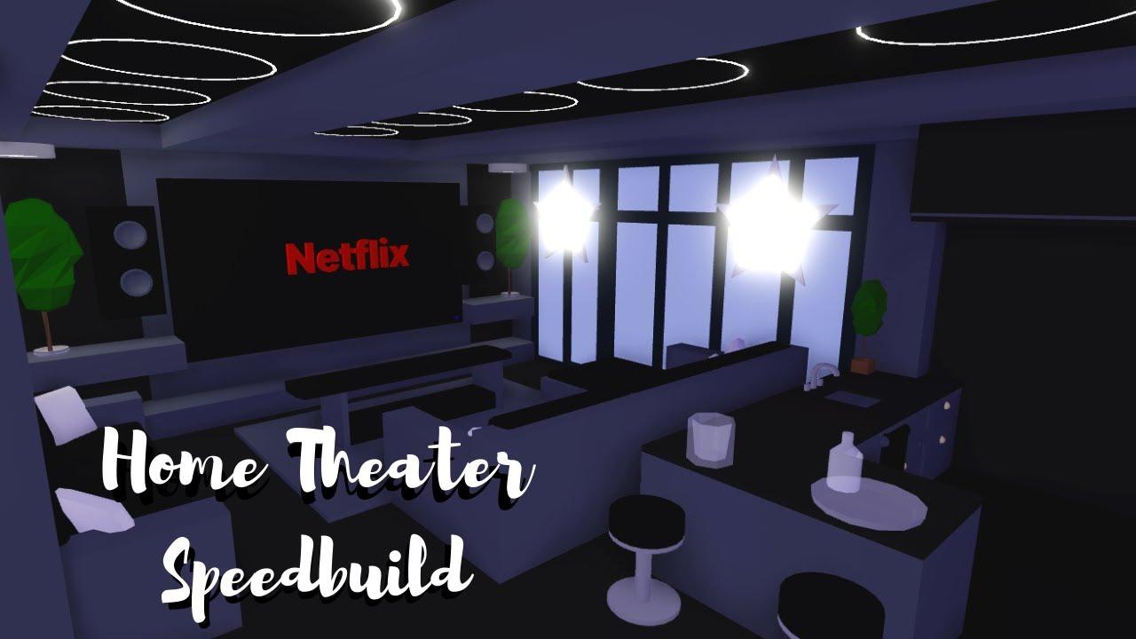Home Theater | Living Room Speedbuild Roblox Adopt Me