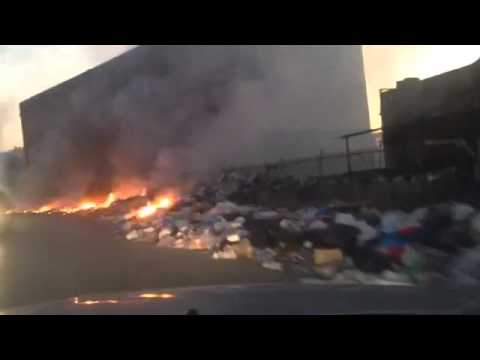 Burning garbage in Fanar - Lebanon