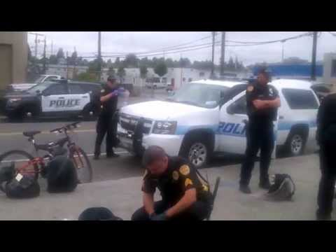 Everett, Washington police trying to meet there quota and messing with the homless