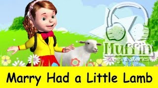 Mary Had a Little Lamb | Family Sing Along - Muffin Songs