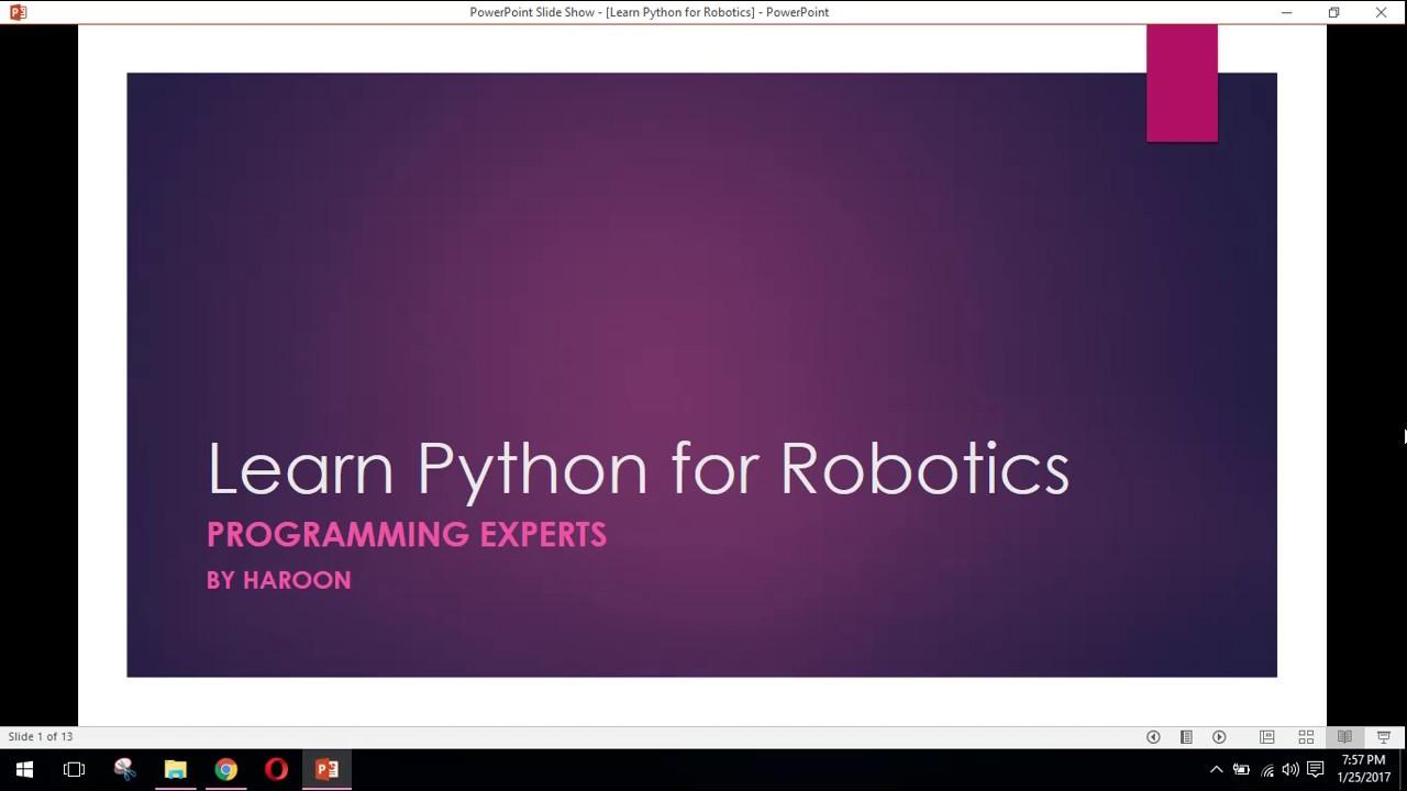Python Tutorial For Robotics #1 Introduction to python