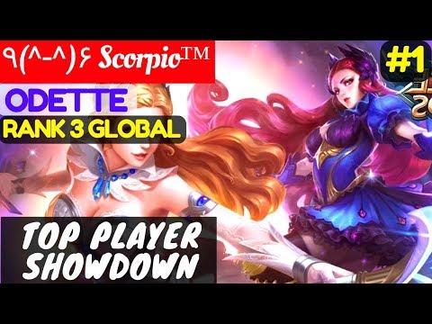 Top Player Showdown [Top 3 Global Odette] | ٩(^-^)۶ Scorpio™ Odette Gameplay Build #1 Mobile Legends